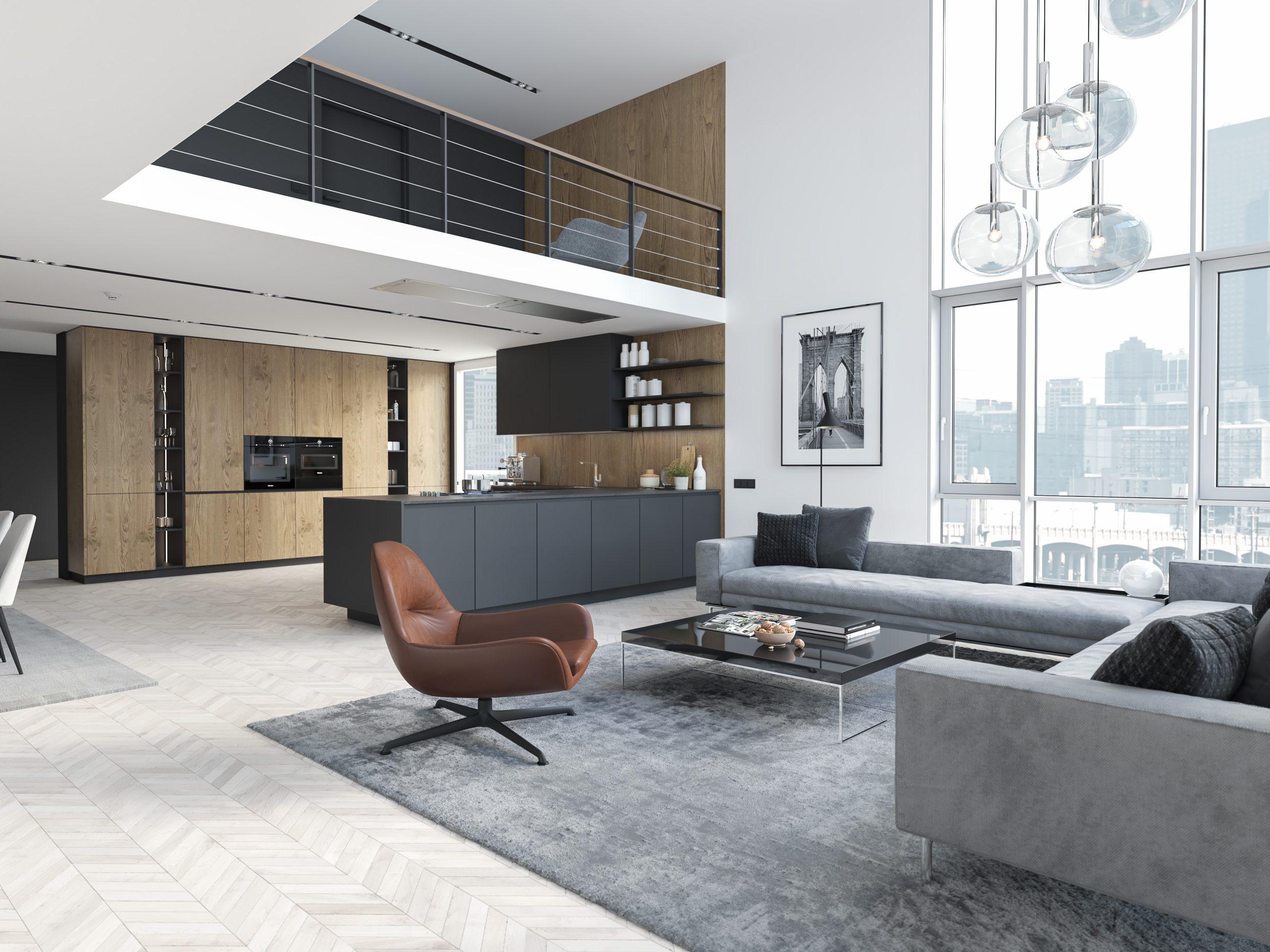 Viviendas singulares de diseño salón